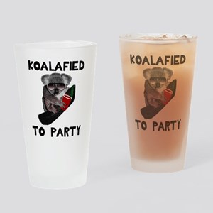 Koalafied to Party Drinking Glass