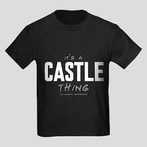 It's a Castle Thing Kids Dark T-Shirt