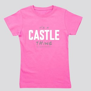 It's a Castle Thing Girl's Dark Tee