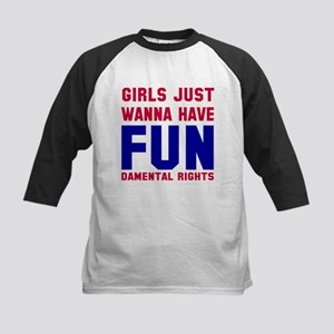Girls want fundamental rights Kids Baseball Jersey