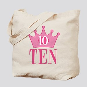 Ten - 10th Birthday - Princess Birthday Party Tote