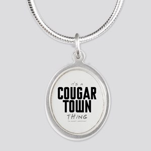 It's a Cougar Town Thing Silver Oval Necklace