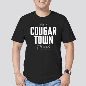 It's a Cougar Town Thing Men's Dark Fitted T-Shirt