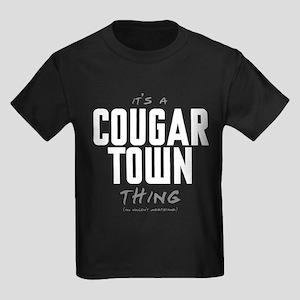 It's a Cougar Town Thing Kids Dark T-Shirt