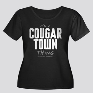 It's a Cougar Town Thing Women's Dark Plus Size Sc