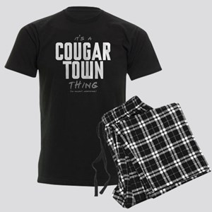 It's a Cougar Town Thing Men's Dark Pajamas