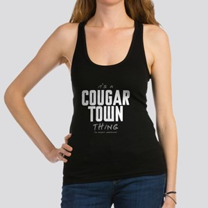 It's a Cougar Town Thing Dark Racerback Tank Top
