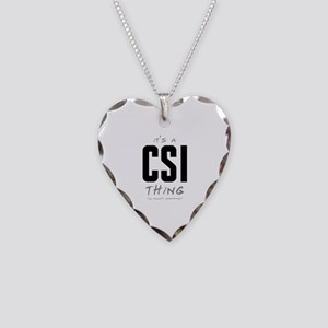 It's a CSI Thing Necklace Heart Charm