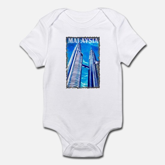 Malaysia Twin Towers Infant Bodysuit