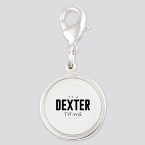 It's a Dexter Thing Silver Round Charm