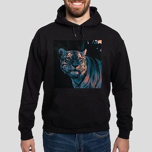 Tiger, Sunset Hoodie (dark)
