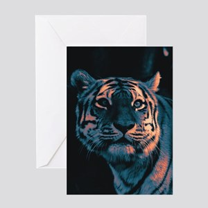 Tiger, Sunset Greeting Cards