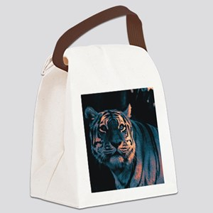 Tiger, Sunset Canvas Lunch Bag