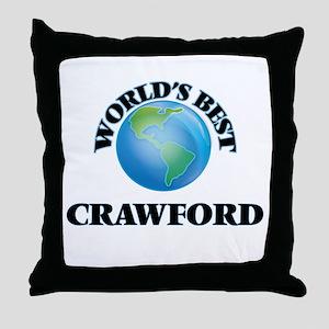 World's Best Crawford Throw Pillow