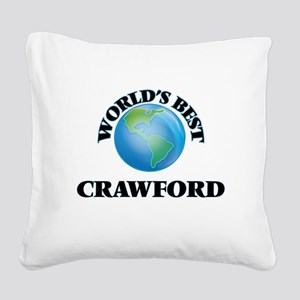 World's Best Crawford Square Canvas Pillow
