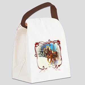 Holiday season' s sleigh ride Canvas Lunch Bag