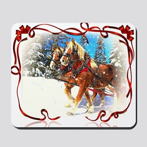 Holiday season' s sleigh ride Mousepad