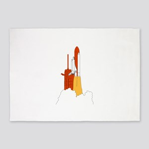 Space Shuttle Launch 5'x7'Area Rug