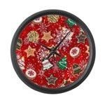 Christmas Cookies Large Wall Clock