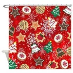 Christmas Cookies Shower Curtain