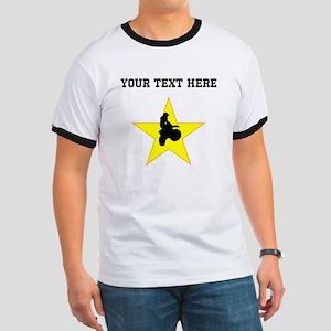 Motocross Silhouette Star (Custom) T-Shirt