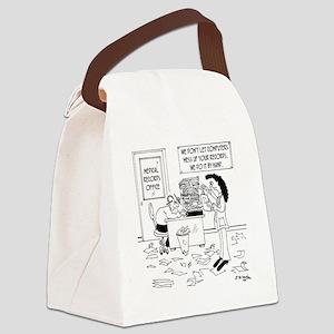 Electrician Cartoon 7171 Canvas Lunch Bag