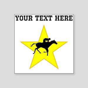 Horse Racing Silhouette Star (Custom) Sticker