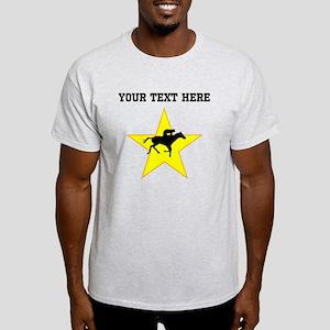 Horse Racing Silhouette Star (Custom) T-Shirt