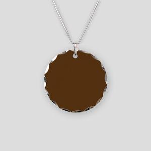 Dark Brown Solid Color Necklace
