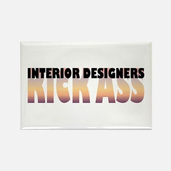 Interior Designers Kick Ass Rectangle Magnet