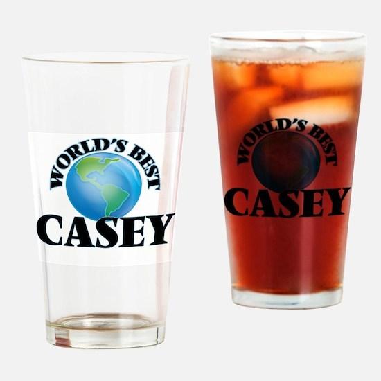 World's Best Casey Drinking Glass