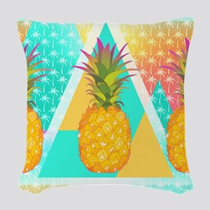 Pineapples Woven Throw Pillow