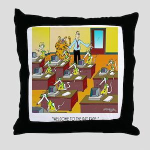Cat Cartoon 6894 Throw Pillow