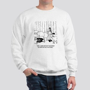 Telecommuting Cartoon 6733 Sweatshirt