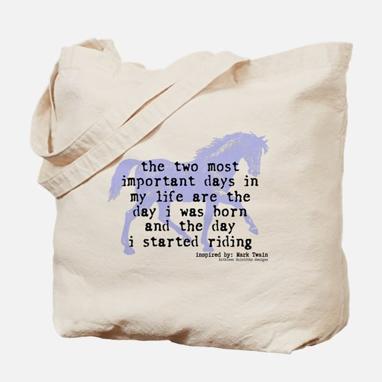 The Day I Started Riding Tote Bag