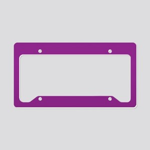 Orchid Solid Color License Plate Holder