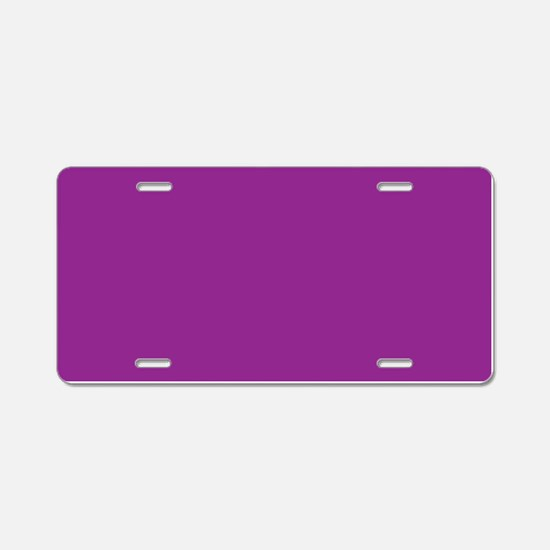 Orchid Solid Color Aluminum License Plate