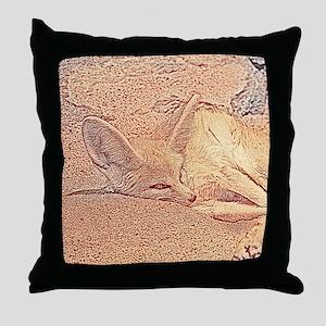 Sketchy fennec fox Throw Pillow