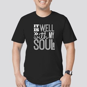 It is Well With My Sou Men's Fitted T-Shirt (dark)