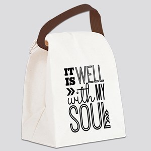 It is Well With My Soul Canvas Lunch Bag