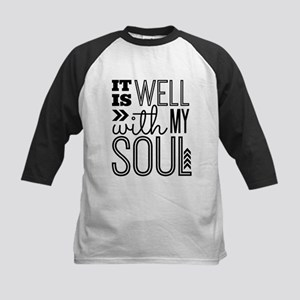 It is Well With My Soul Kids Baseball Jersey