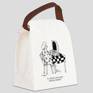 Social Security Cartoon 4634 Canvas Lunch Bag
