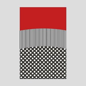 Red Pattern Mini Poster Print