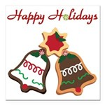 Christmas Cookie Bells Square Car Magnet 3