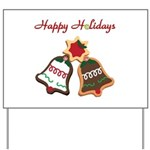 Christmas Cookie Bells Yard Sign