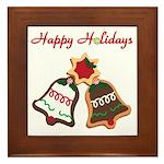 Christmas Cookie Bells Framed Tile