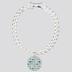 Winter Pugs Charm Bracelet, One Charm