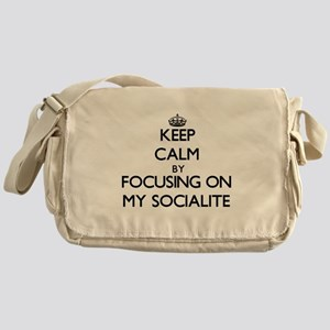 Keep Calm by focusing on My Socialit Messenger Bag