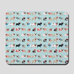 Winter Pugs Mousepad