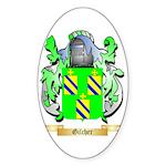 Gilcher Sticker (Oval 50 pk)